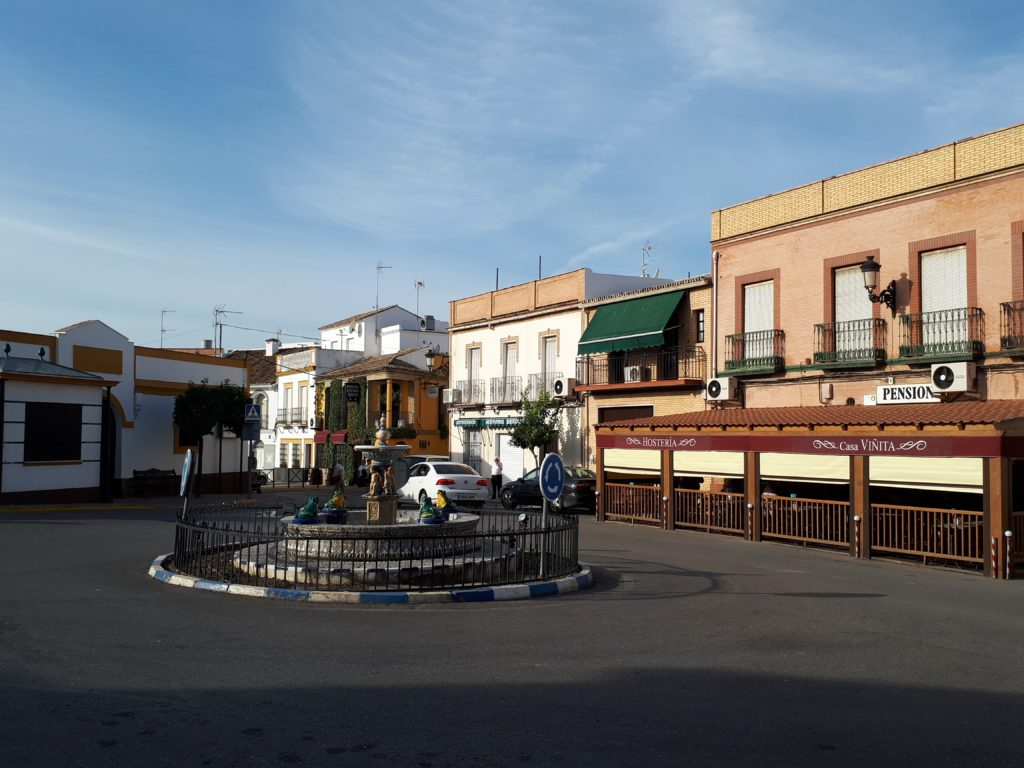 The main plaza in Montellano, Spain