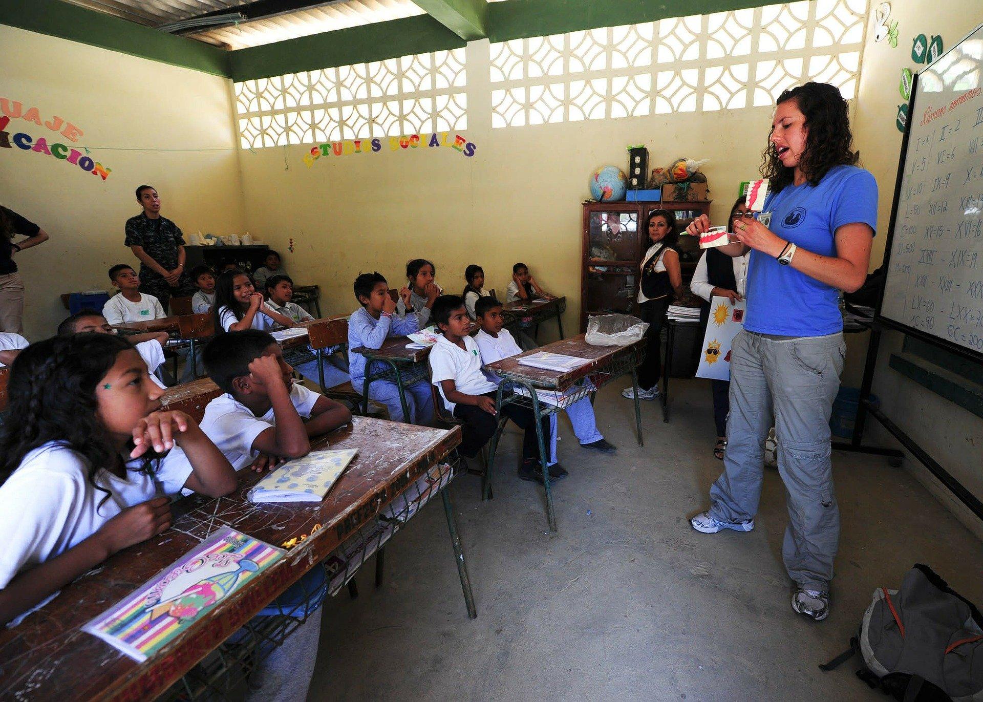 ESL teaching classroom